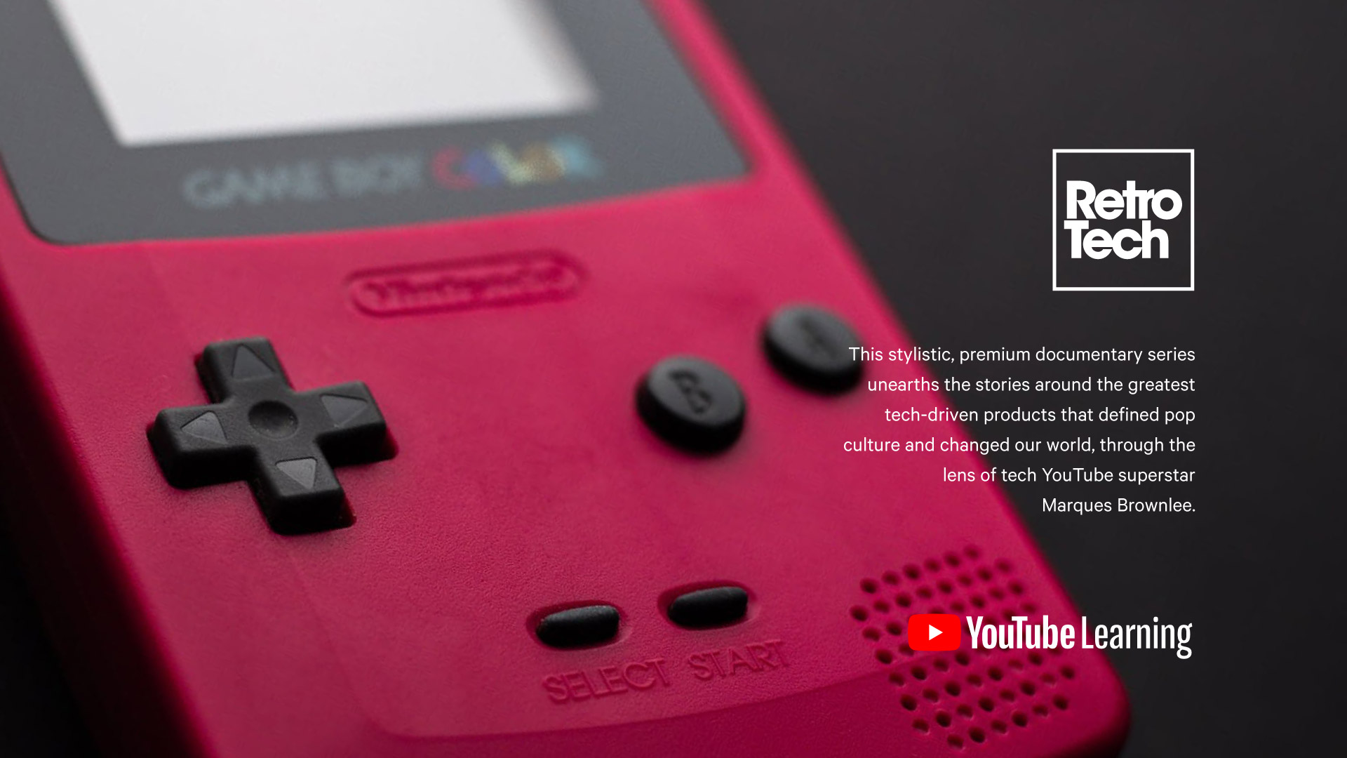red-game-boy-color-on-black-background-tilted-to-the-left-retro-tech-logo-youtube-learning-logo